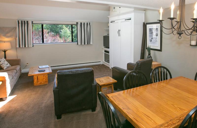 Guest room at Black Bear Lodge.