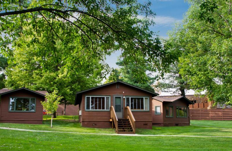 Cabin exterior at Ruttger's Bay Lake Lodge.