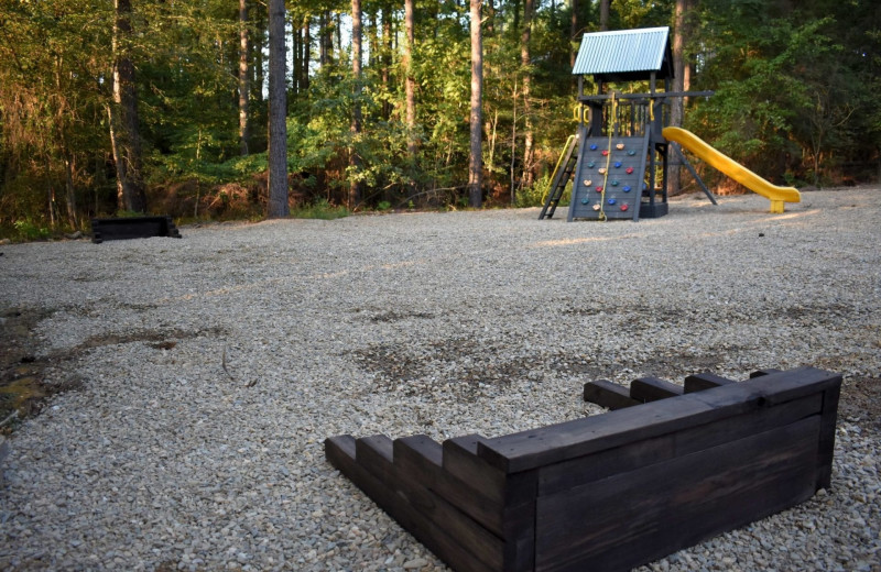 Rental playground and games at White Glove Luxury Cabins.