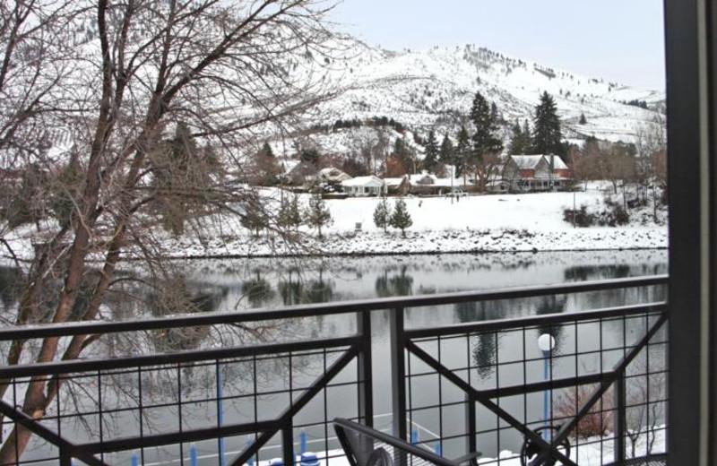 Balcony view at Lake View Hotel.
