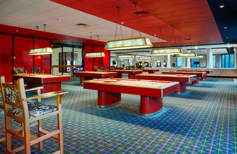 There are plenty of activities to enjoy during your all-inclusive escape to Cove Haven Entertainment Resorts including billiards!