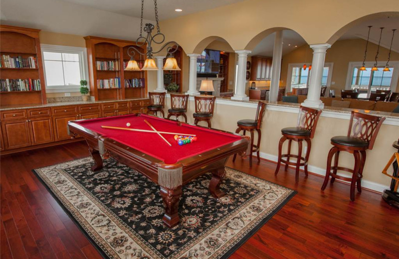 Rental billiards table at Sandbridge Realty.