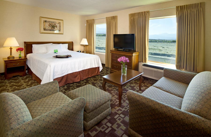 Guest room at Hampton Inn & Suites Desert Palm.