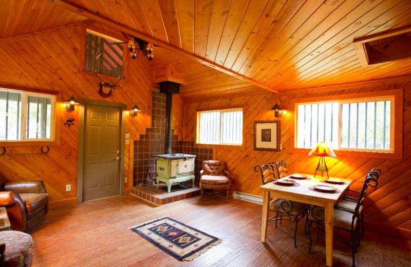 Cabin interior at Kessler Canyon.