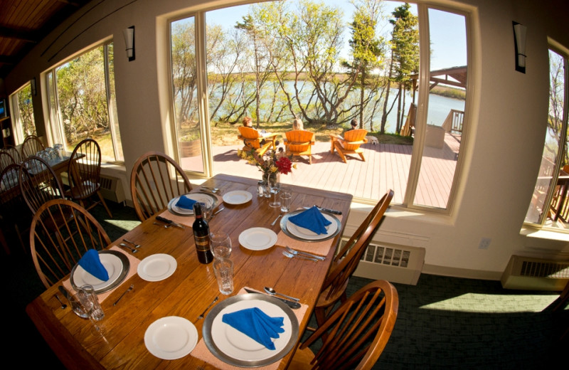 Dining room at King Salmon Lodge.