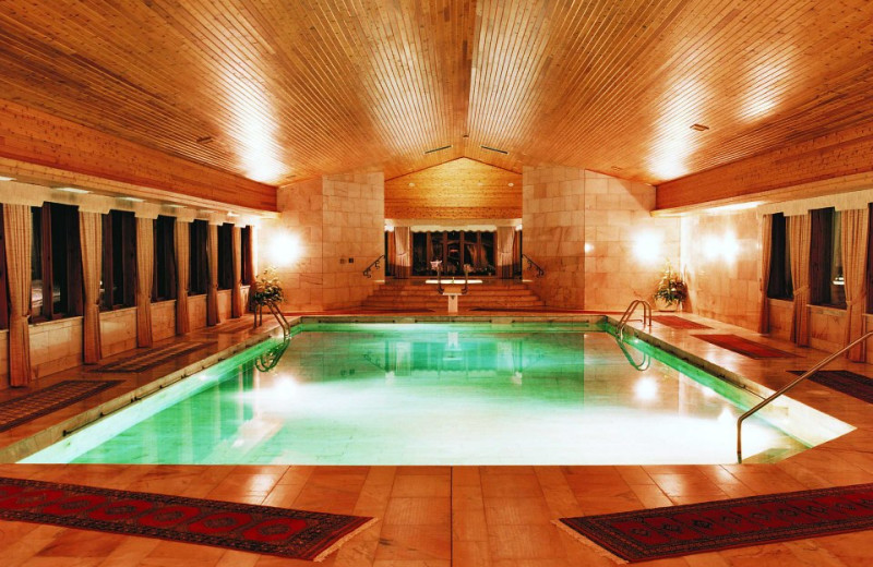 Indoor pool at Hotel du Lac Carling Resort.