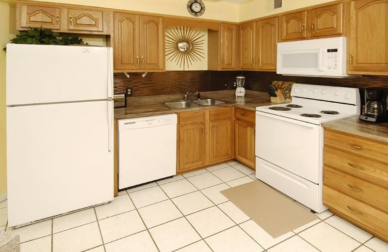 Rental kitchen at Bender Realty.