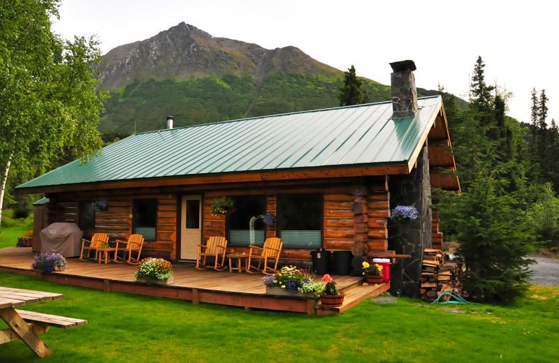 Cabin exterior at Alaska Heavenly Lodge.