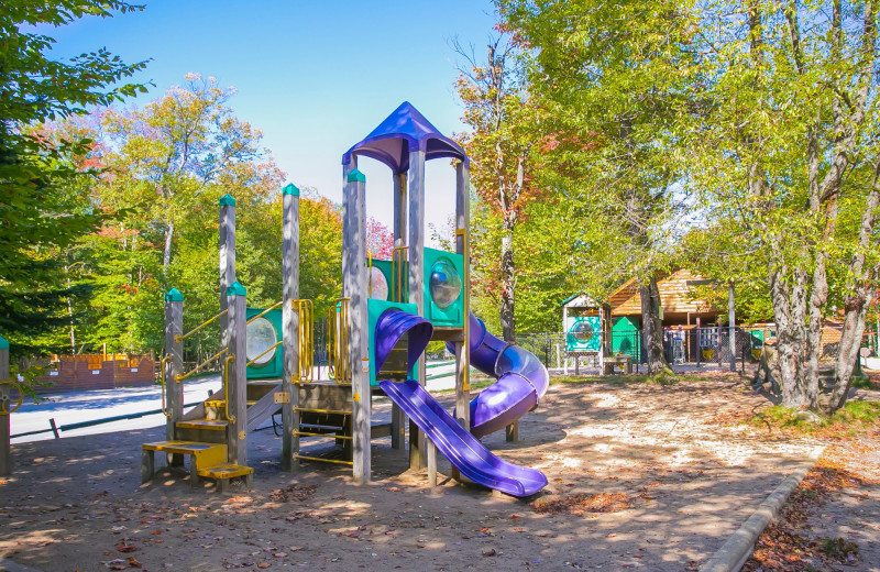Playground at Old Forge Camping Resort.