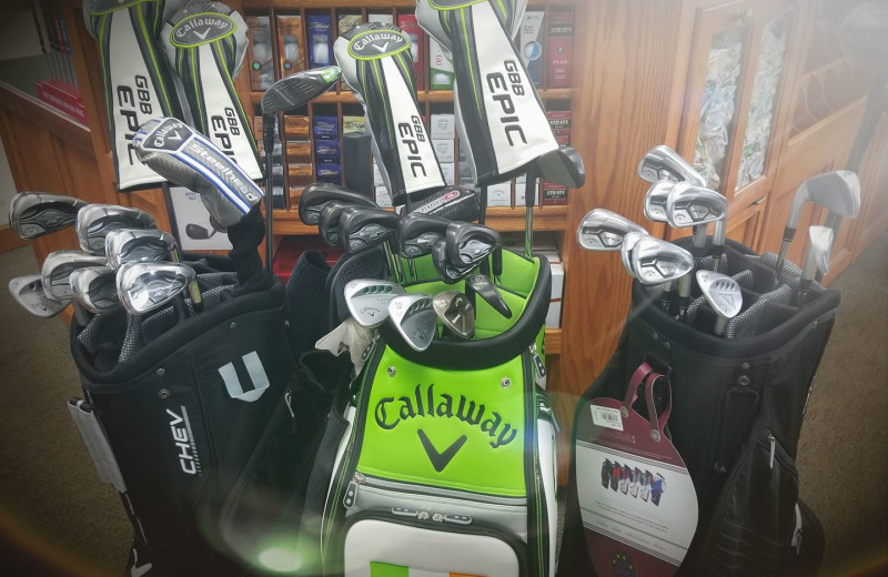 Golf shop at The Lodge at Lykens Valley.