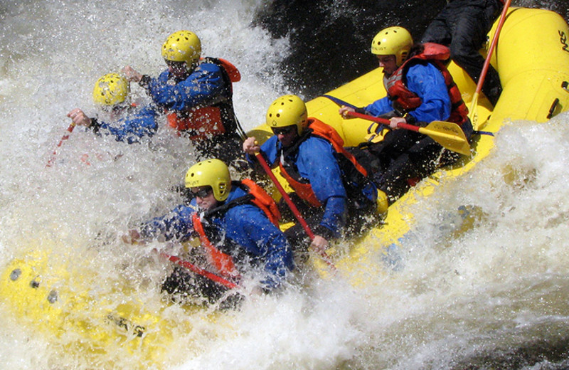 Rafting at Rawah Ranch.