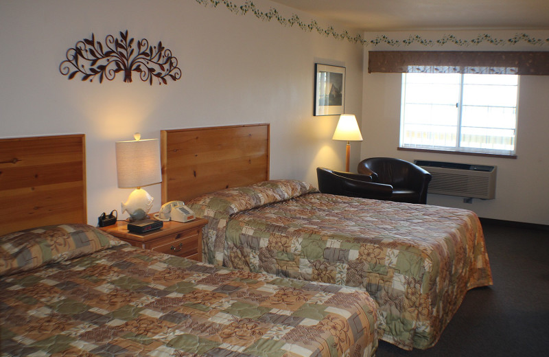Guest room at Rowleys Bay Resort.