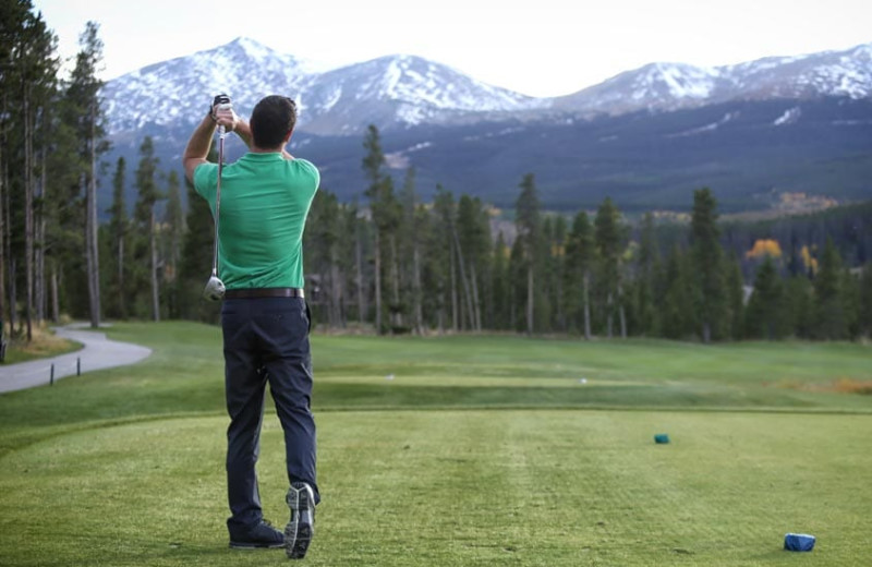 Golf near Grand Timber Lodge.