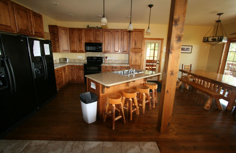 Guest kitchen at White Birch Resort.