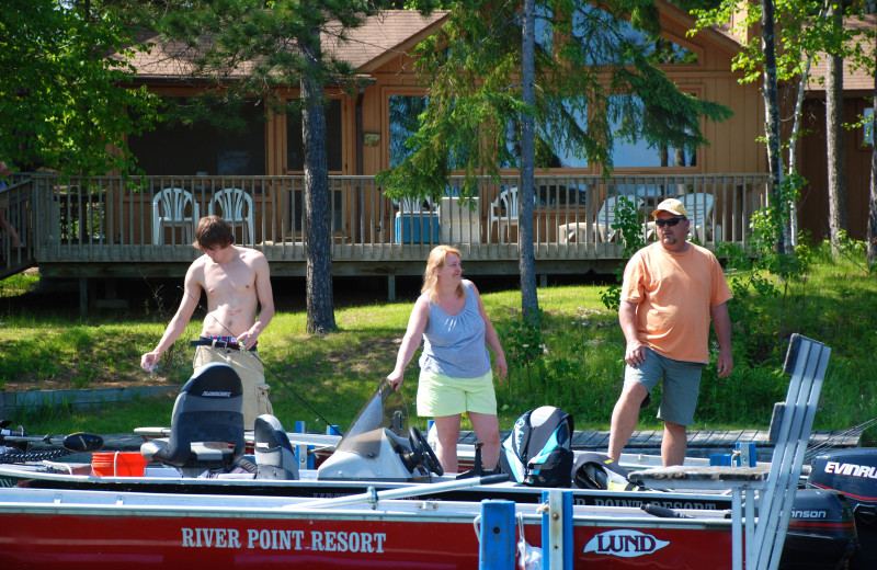 Boating at River Point Resort & Outfitting Co.