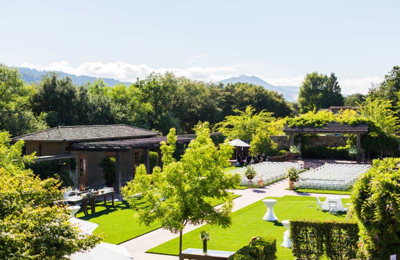 Outdoor wedding at Villagio Inn and Spa.