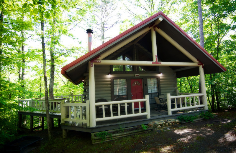 Cabin exterior at Kiamichi Country Cabins.