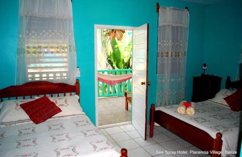 Guest room at Sea Spray Hotel.