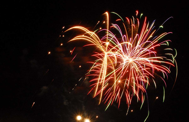 Fireworks at The Lodge at Woodloch.