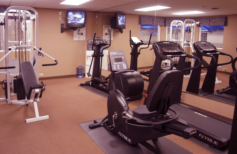 Fitness room at The Irish Cottage Inn & Suites.