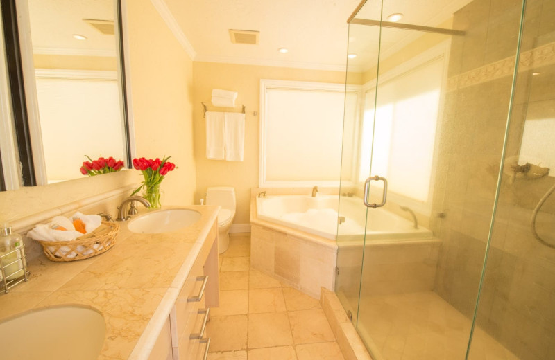 Rental bathroom at Woodfield Properties.