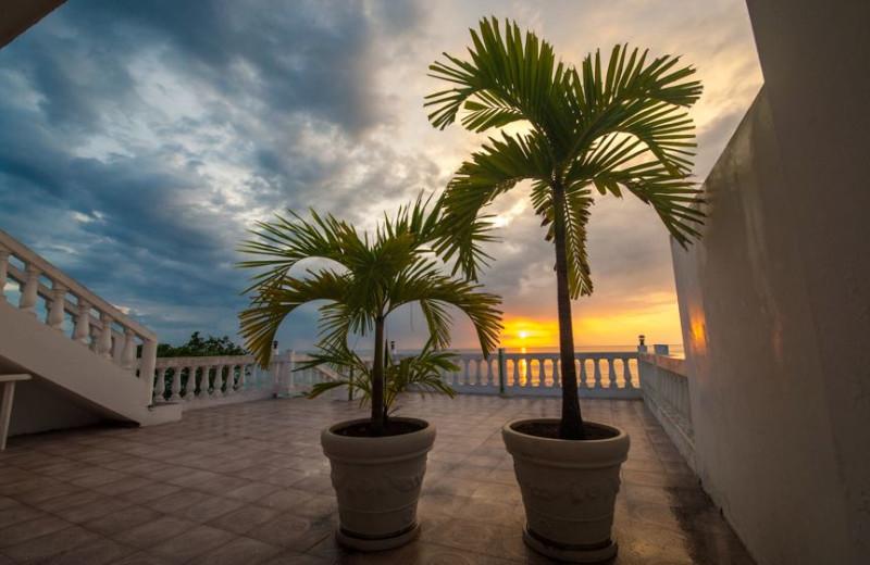 Sunset at Beach House Villas.