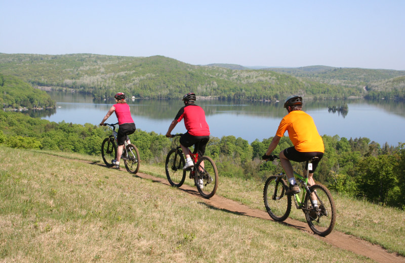 Biking at Ogopogo Resort.