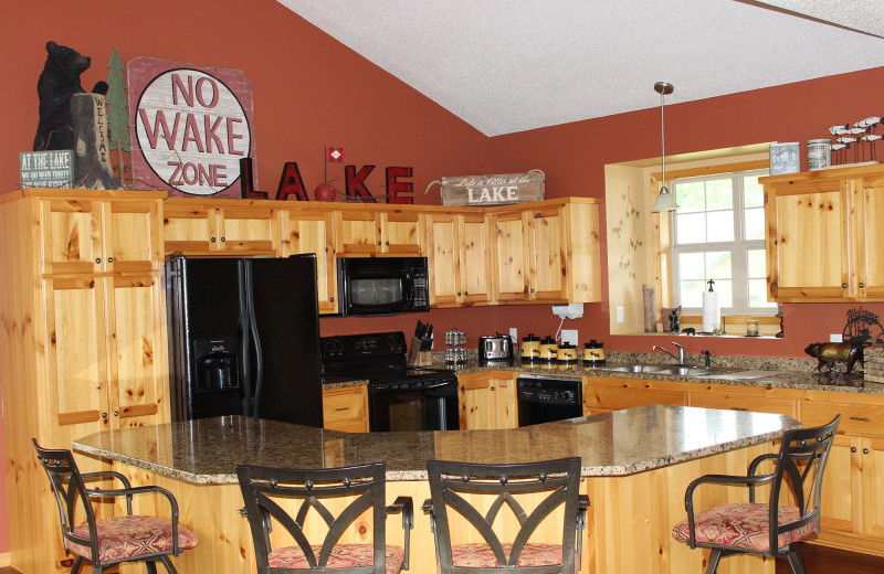 Guest kitchen at Big Sandy Lodge & Resort.