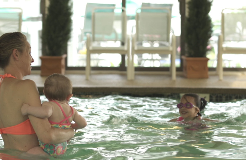 Indoor pool at The Meadowmere Resort.