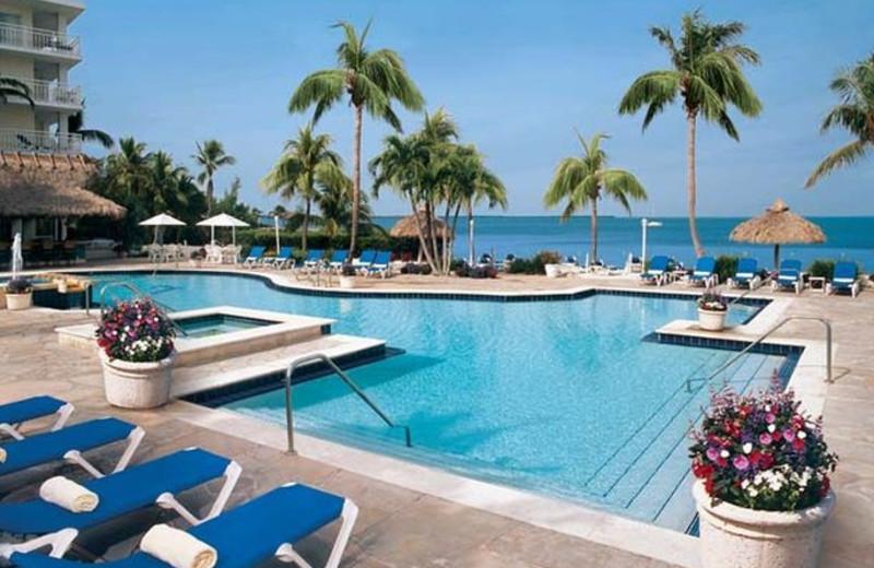 Outdoor pool at Key Largo Marriott Bay Resort.