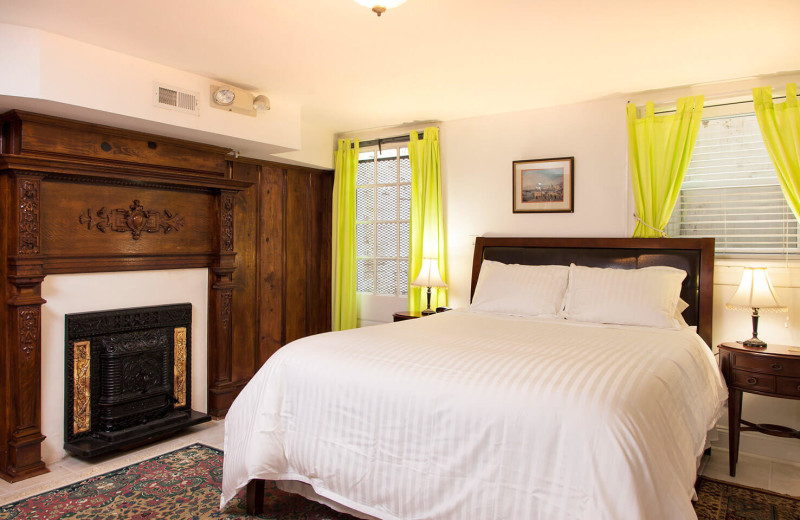 Guest room at American Guest House.
