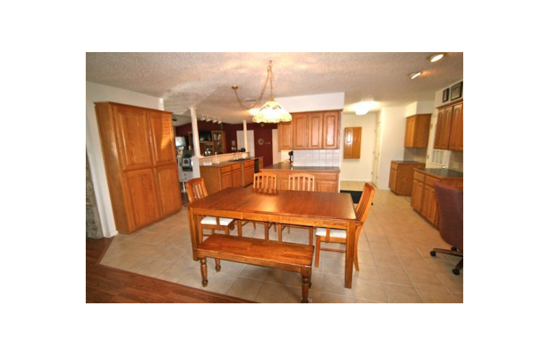 Rental kitchen at Oak House On Lake LBJ.