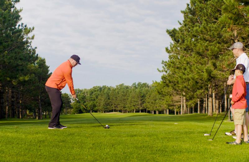 Golf near Olson's Big Pine Get-A-Way.