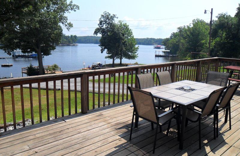 Cottage deck view at King Creek Resort & Marina.