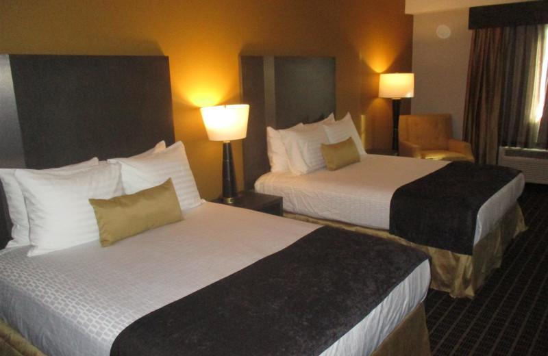 Guest room at BEST WESTERN Plus Lampasas.