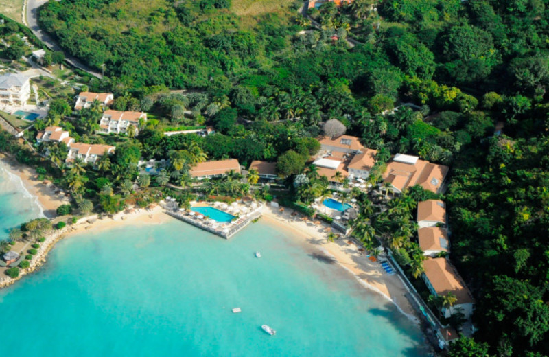 Aerial view of Blue Waters Hotel.