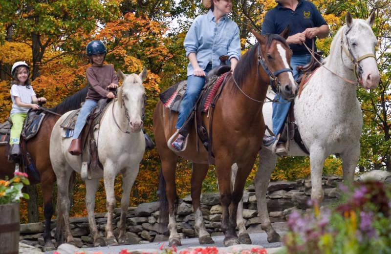 Horseback riding at Rocking Horse Ranch Resort.