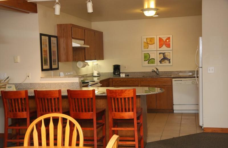 Guest kitchen at Adobe Resort.