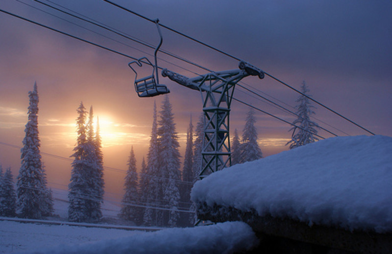 Skiing at Silver Star Mountain Resort.