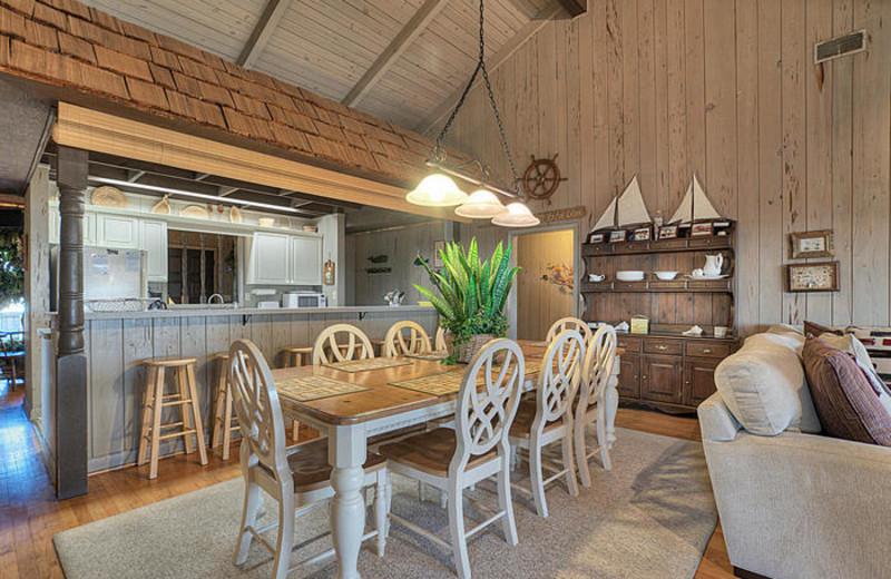 Rental kitchen at Elliott Beach Rentals.
