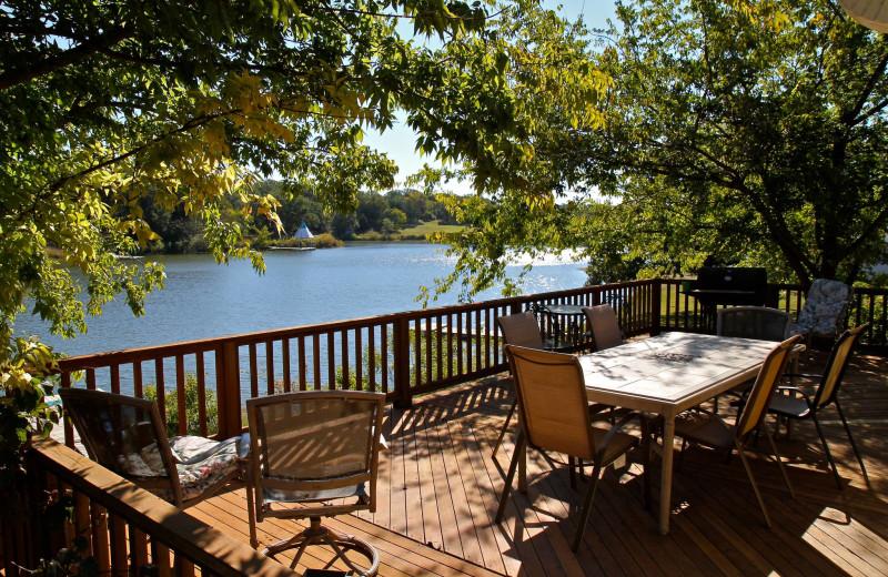 Porch at Premier Lake Property Rentals.