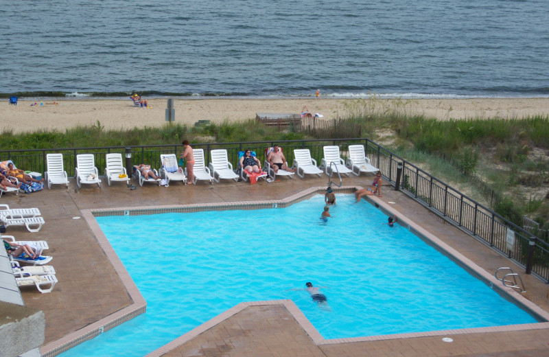 Outdoor pool at Virginia Beach Resort Hotel.
