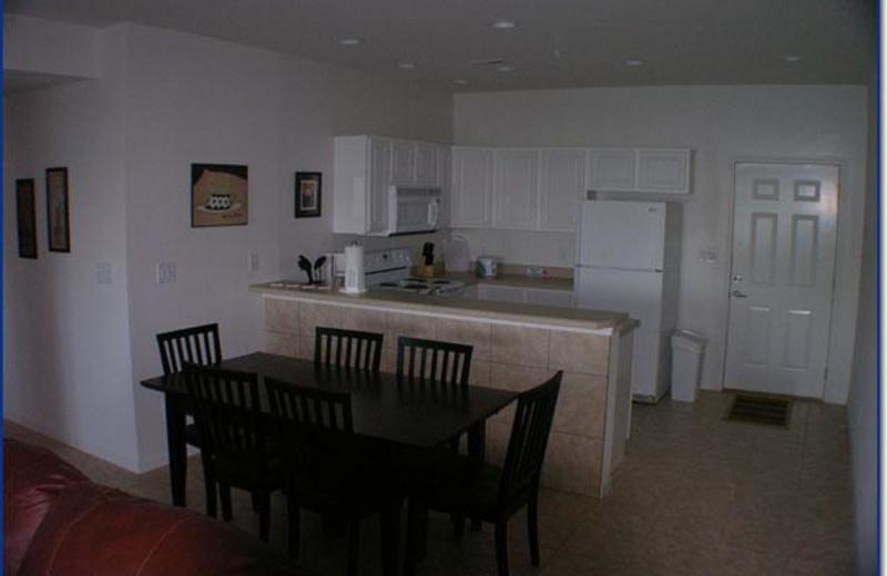 Kitchen view at Robin's Resort.