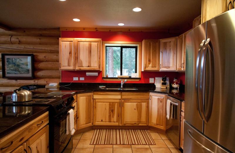 Cabin kitchen at Natapoc Lodging.