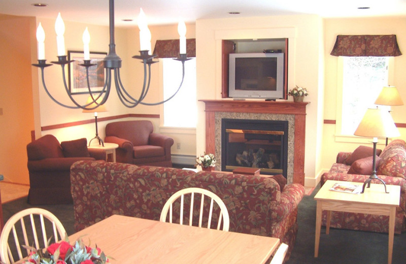 Rental living room at Stowe Vacation Rentals & Property Management.