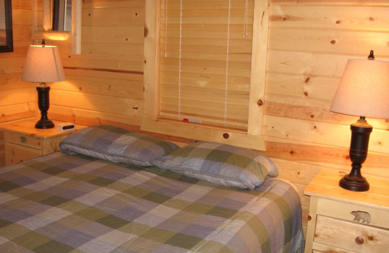 Rental bedroom at Northwoods Vacation Lodgings.