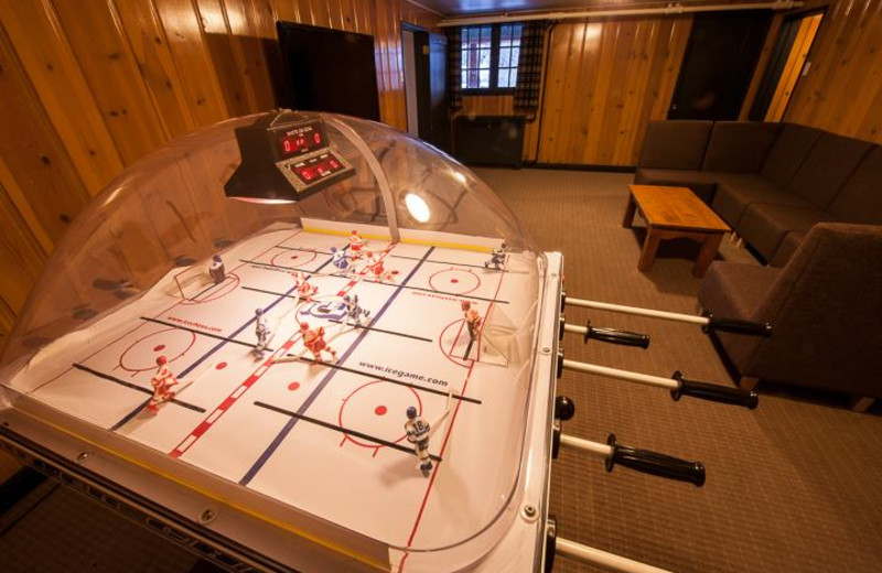 Guest game room at Inns of Banff.