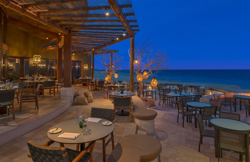 Dining at Sheraton Hacienda del Mar Resort & Spa.
