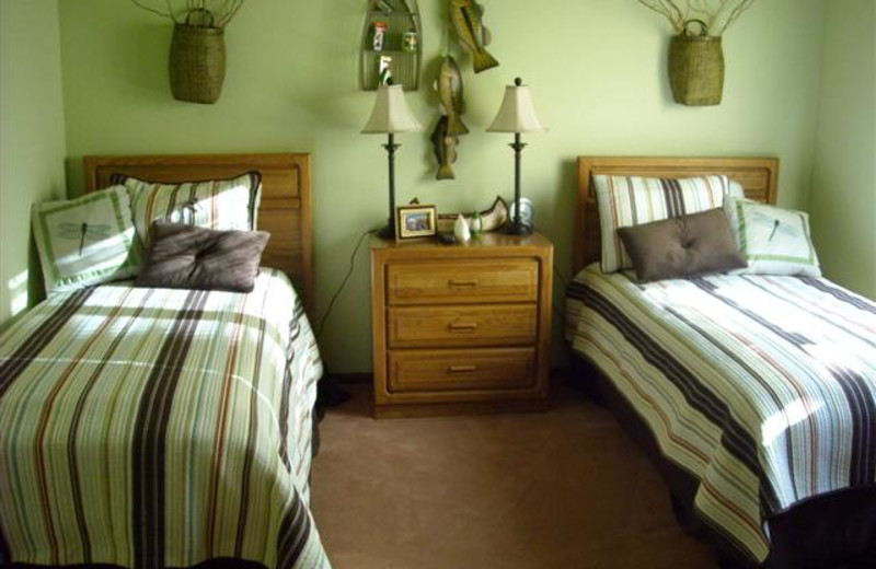 Guest room at Lori's Luxury Rentals.