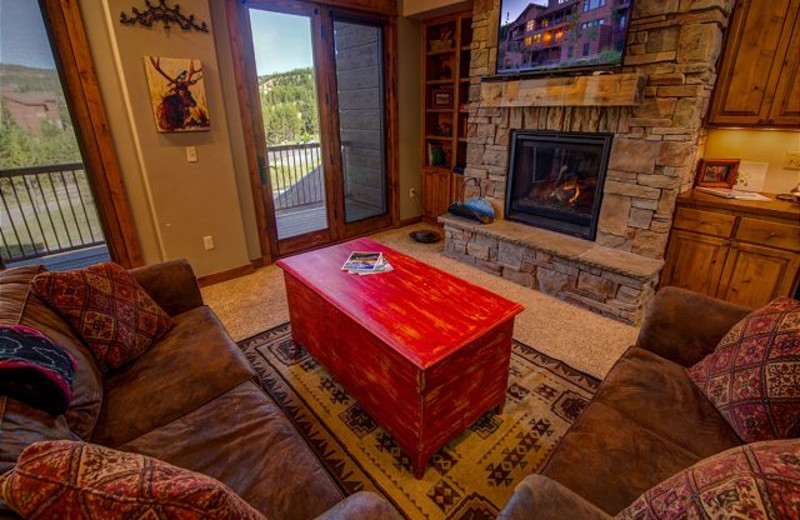 Rental living room at Black Diamond Vacation Rentals.
